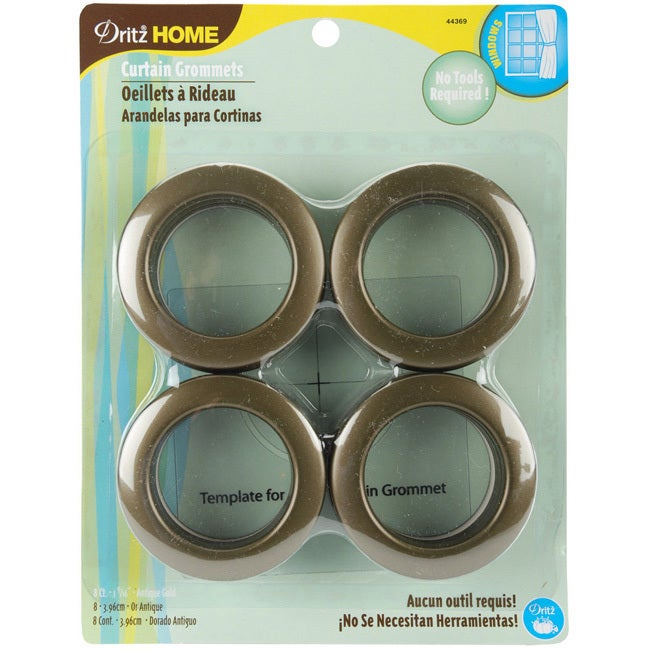 PRYM-DRITZ CORP Antique Gold Curtain Grommets (Pack of 8)...
