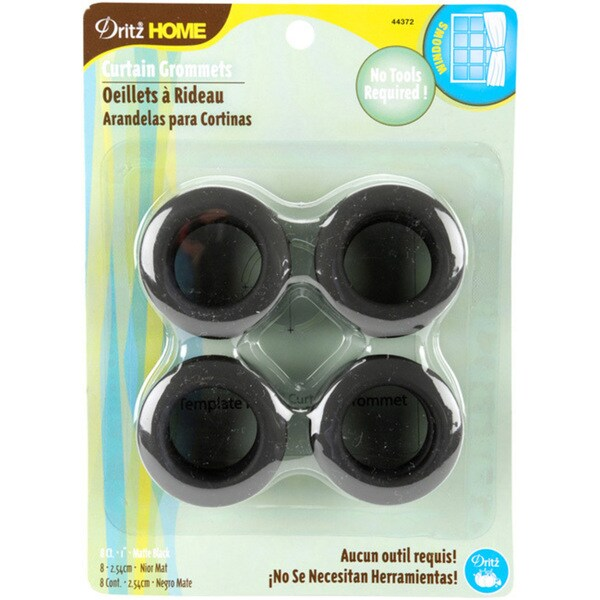 Dritz Matte Black 1-inch Curtain Grommets (Pack of 8)