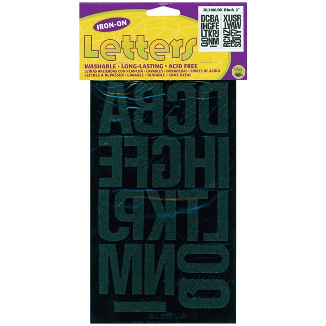 Dritz Acid-free Black Two-inch Iron-On Block Letters (38-count)