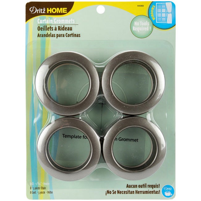 PRYM-DRITZ CORP Pewter Curtain Grommets (Pack of 8) (Pewt...