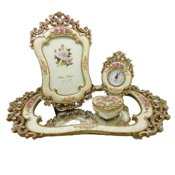 Antique Finish Vanity Dresser Set