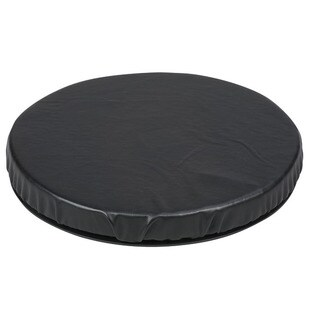 Healthsmart Black Leatherette Swivel Seat Cushion