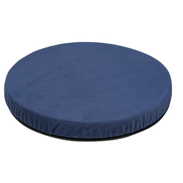 Healthsmart Navy Velour Swivel Seat Cushion