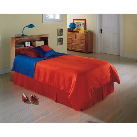 Fashion Bed Group Kids Twin Size Barrister Bookcase Headboard in Maple