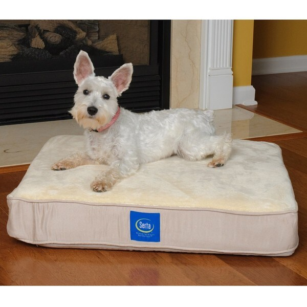 Serta True Response Memory Foam Pet Bed Medium Free