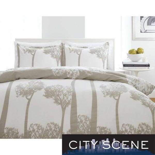 City Scene Tree Top King-size 3-piece Duvet Cover Set