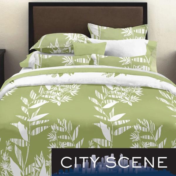 City Scene Tokyo Leaf King-size 3-piece Duvet Cover Set