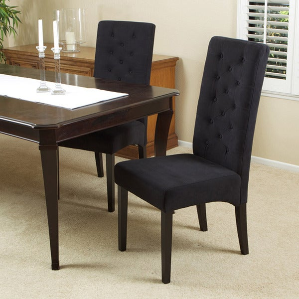 Dark Navy Tufted Dining Chair (Set of 2) - Free Shipping ...
