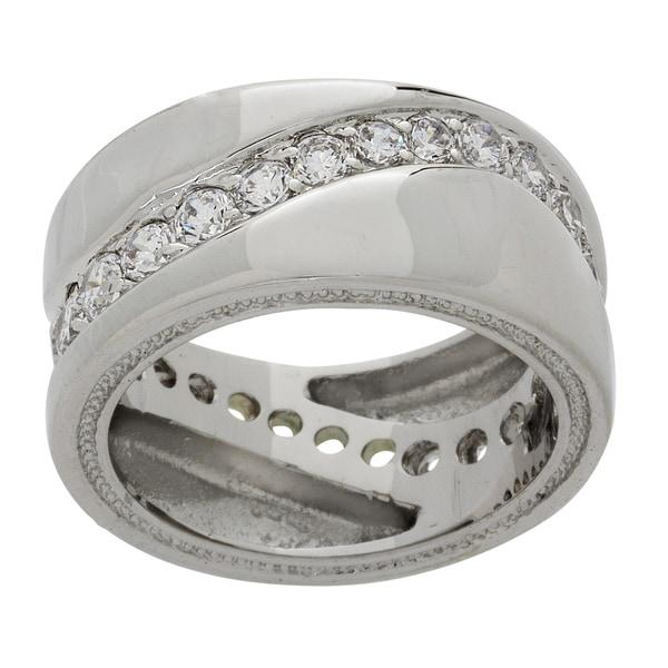 NEXTE Jewelry Swirl Cubic Zirconia Eternity Band