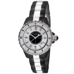 Akribos XXIV Women's Ceramic Quartz Date Bracelet Watch