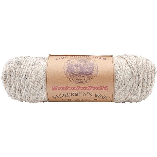 Lion Brand Birch (Brown) Tweed Fishermen's Wool Yarn (Bir...