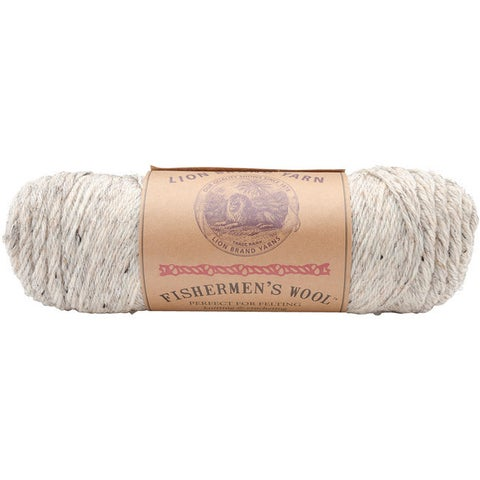 Lion Brand Birch Tweed Fishermen's Wool Yarn