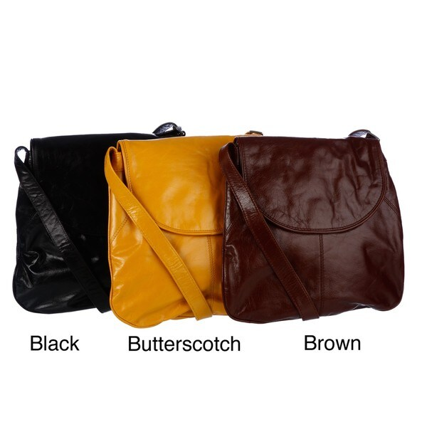 Latico Front-flap Leather Crossbody Bag