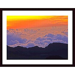 John K. Nataka 'Haleakala Sunrise' Wood Framed Art Print