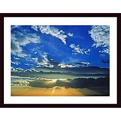 John K. Nakata 'Desert Sunset' Wood Framed Art Print