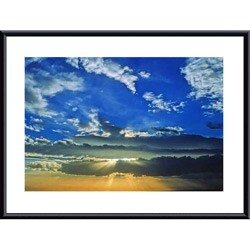 John K. Nakata 'Desert Sunset' Metal Framed Art Print