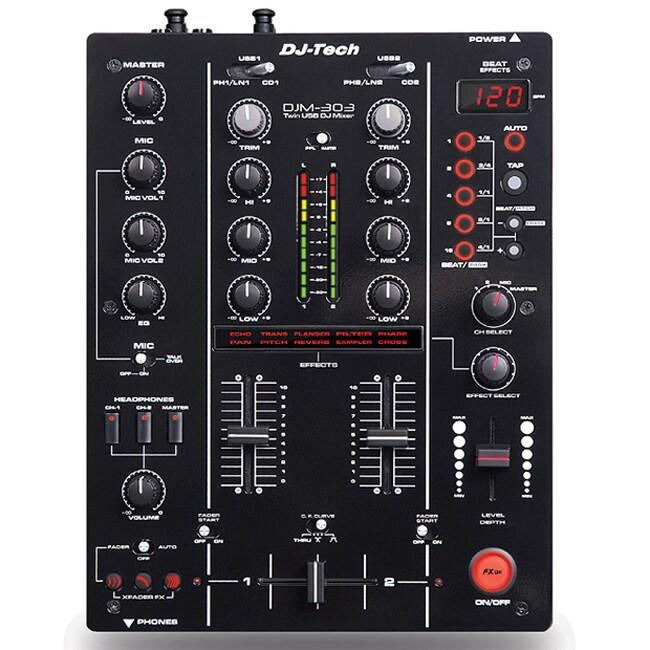 DJ tech Pro 2 CH7 USB Input Twin DJ Mixer