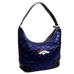 Denver Broncos Quilted Hobo Handbag