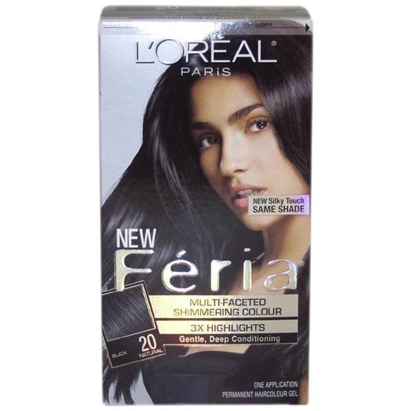Loreal Feria Natural 20 Black Hair Color Free Shipping On Orders