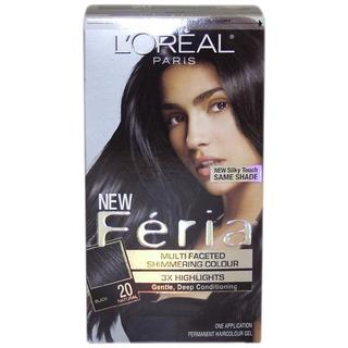 L'Oreal Feria Natural #20 Black Hair Color