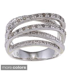 Finesque 14k Gold Overlay or Silverplated 1/4ct TDW Diamond Multi-band Ring (Option: Brass)|https://ak1.ostkcdn.com/images/products/6205723/Finesque-Overlay-1-4ct-TDW-Diamond-Multi-band-Ring-I-J-I2-I3-P13853228A.jpg?impolicy=medium