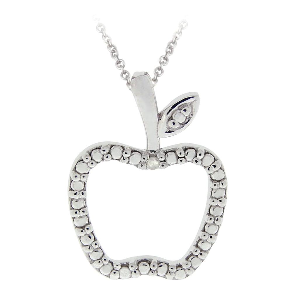 Shop db designs sterling silver diamond accent apple necklace free db designs sterling silver diamond accent apple necklace aloadofball Gallery