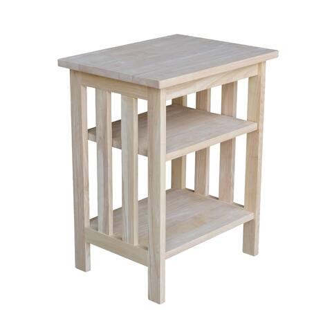 The Gray Barn Moonshine Natural Wood Printer Stand