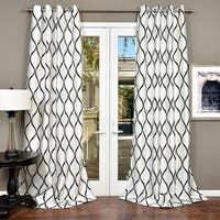 Lambrequin Casa Flocked Faux Silk Window Panel