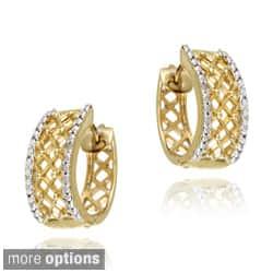 DB Designs 18k Gold over Silver Crescent Diamond Accent Hoop Earrings https://ak1.ostkcdn.com/images/products/6206111/DB-Designs-18k-Gold-over-Silver-Crescent-Diamond-Accent-Hoop-Earrings-P13853472c.jpg?impolicy=medium