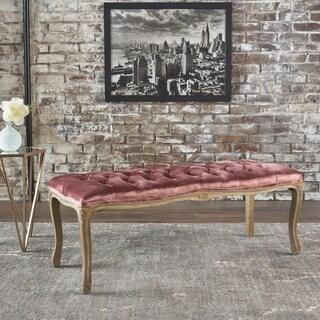 Tassia Tufted New Velvet Bench by Christopher Knight Home