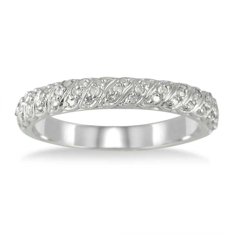 Marquee Jewels 10k White Gold 1/4ct TDW Diamond Wedding Band (I-J, I1-I2)