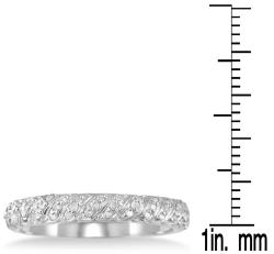 Marquee Jewels 10k White Gold 1/4ct TDW Diamond Wedding Band (I-J, I1-I2) - Thumbnail 2