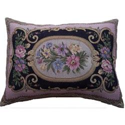 Corona Decor Italian-woven 34in.x 22in. Floral Decorative Pillow - Thumbnail 0