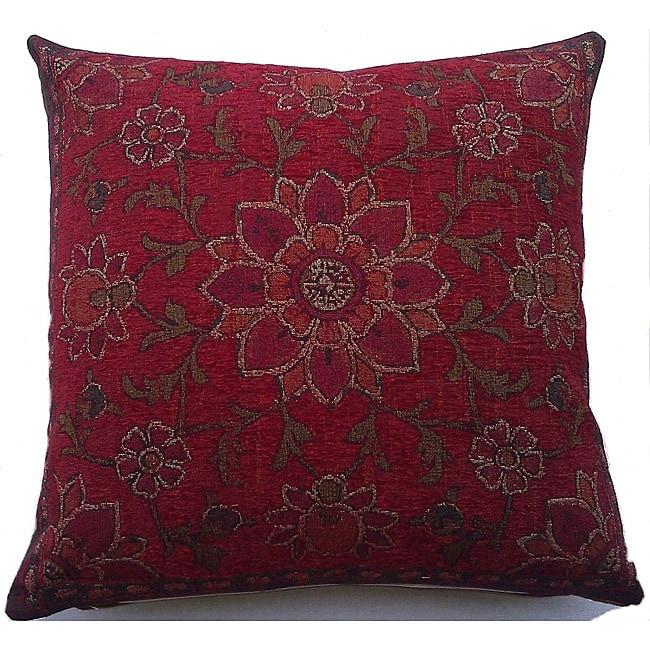 Corona Decor Belgium Woven Floral Decorative Pillow
