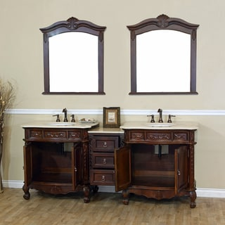 Ashby Double Marble Bathroom Vanity. Size Double Vanities Bathroom Vanities   Vanity Cabinets   Shop