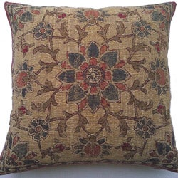 Corona Decor Belgium Woven Floral Decorative Pillow