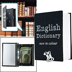 Small Dictionary Metal Diversion Book Safe with Key Lock