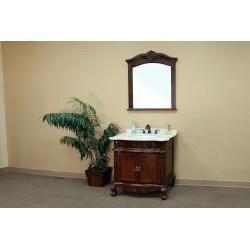 Ashby Wood Frame Mirror - Thumbnail 1