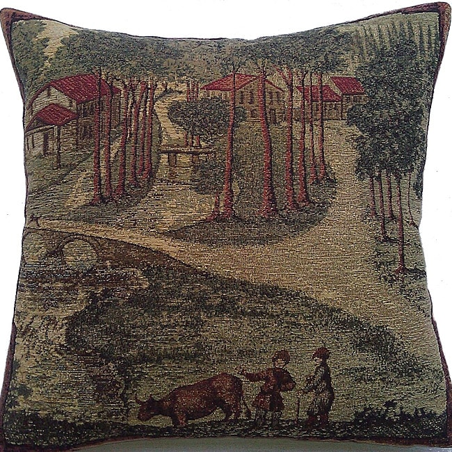 Corona Decor Belgium Woven Old World Decorative Pillow