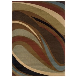 """Hayden Abstract Waves Multi-colored Area Rug - 7'8"""" x 10'10"""""""