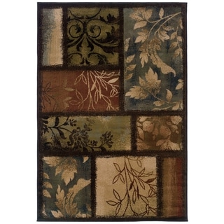 "Hearthstone Botanical Color Block  Area Rug - 5'3"" x 7'6"""