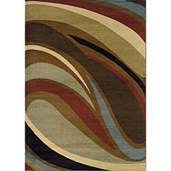 Brown/Gray Area Rug - 3'10 x 5'5 - Thumbnail 0