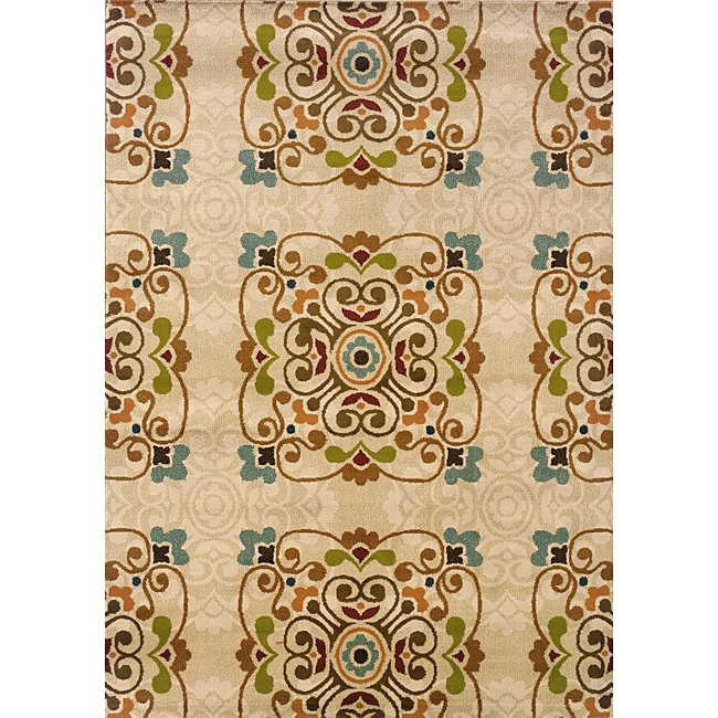 Gold/ Beige Transitional Area Rug (7'10 x 10')