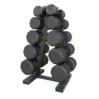 CAP Barbell 150-pound Eco Dumbbell Set with Rack