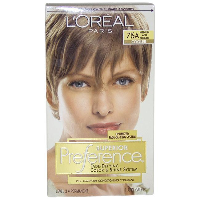 L'Oreal Superior Preference Fade-Defying Color #7.5A Medi...