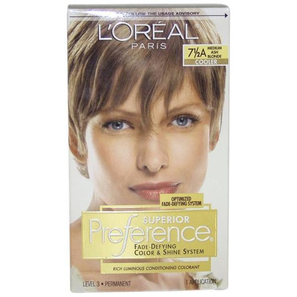 Loreal Superior Preference Fade Defying Color 75a Medium Ash