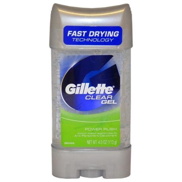 Gillette for Men 4-ounce Clear Gel Power Rush
