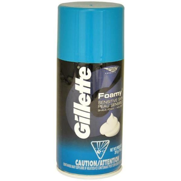 Gillette for Men 11-ounce Comfort Glide Foamy Sensitive Skin