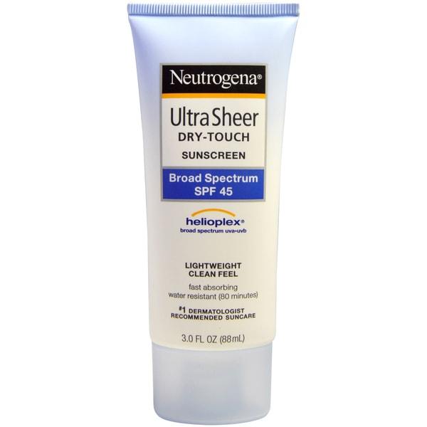 Neutrogena Ultra Sheer Dry Touch SPF 45 3-ounce Sunscreen