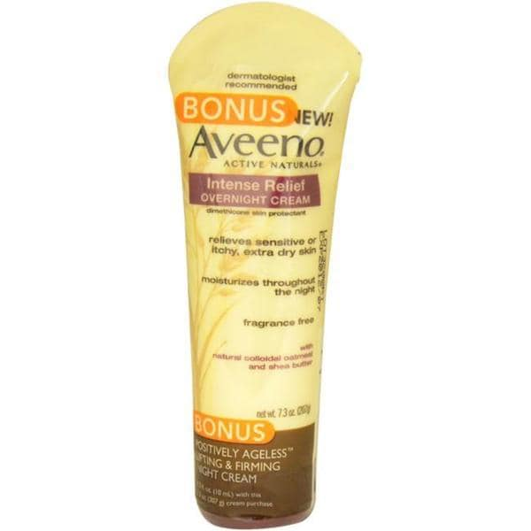 Aveeno Active Naturals Intense Relief 7.3-ounce Overnight Cream